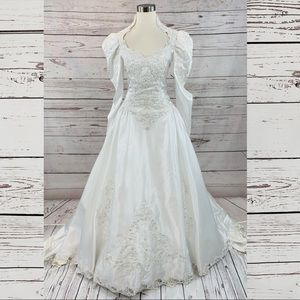 Bridal Collection vintage 90s 80s dress beaded